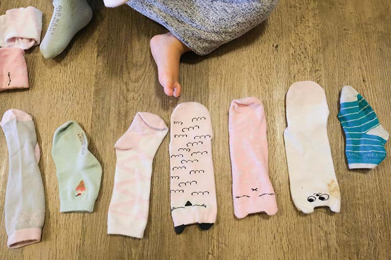 Socks and Shoes Matching Activity for Toddlers